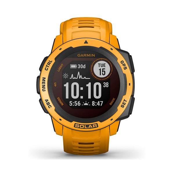 Garmin instinct solar amarillo ocre 45mm smartwatch resistente gnss gps ant+ bluetooth