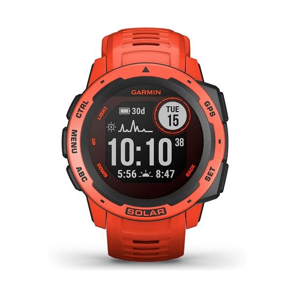 Garmin instinct solar rojo 45mm smartwatch resistente gnss gps ant+ bluetooth