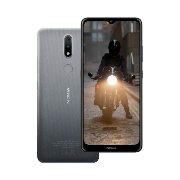 Nokia 2.4 gris móvil 4g sim 6.5'' hd+ octacore 64gb 3gb ram dualcam 8mp selfies 5mp
