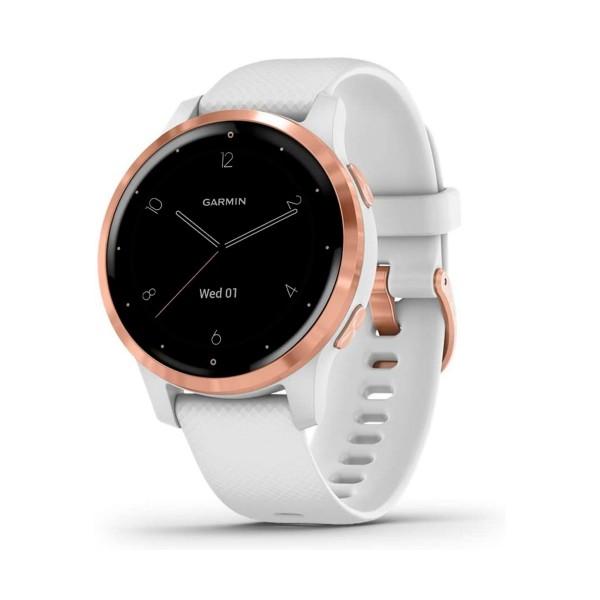 Garmin vivoactive 4s oro rosa con correa blanca 40mm smartwatch compacto gps integrado wifi bluetooth