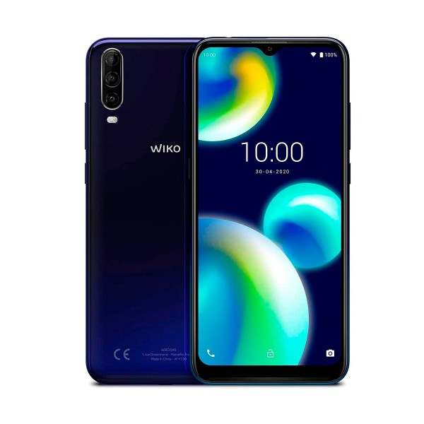 Wiko view4 lite azul móvil 4g dual sim 6.52'' hd+ octacore 64gb 2gb ram tricam 13mp selfies 5mp